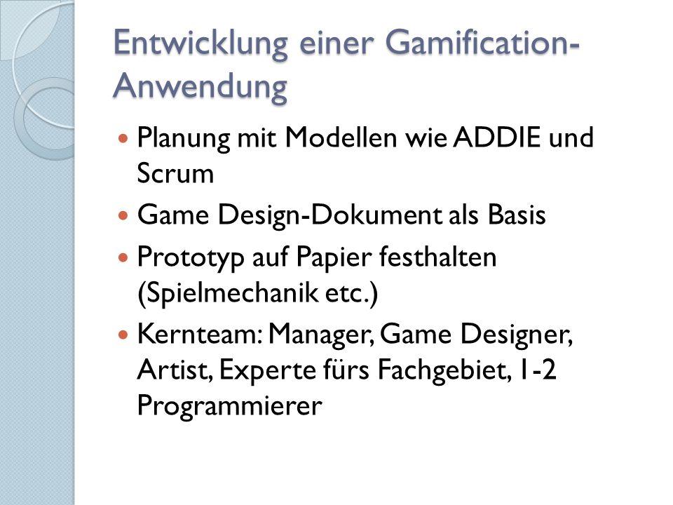 Entwicklung einer Gamification-Anwendung