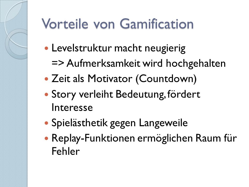 Vorteile von Gamification