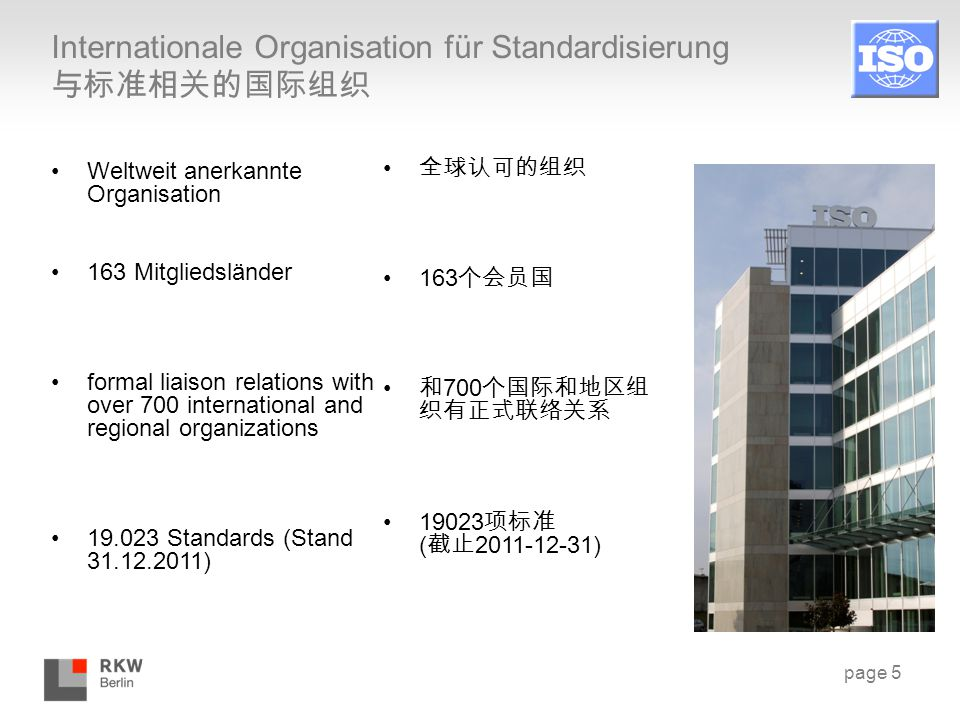 Internationale Organisation für Standardisierung 与标准相关的国际组织