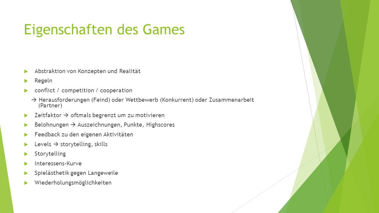 Eigenschaften des Games