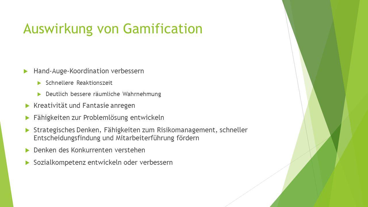 Auswirkung von Gamification