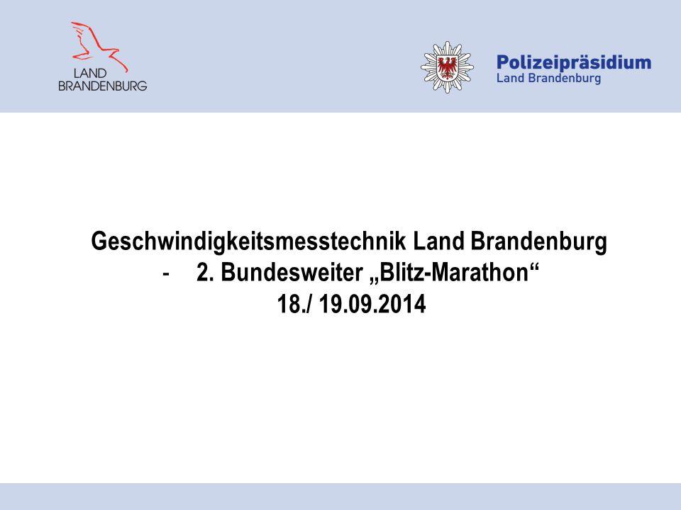 Geschwindigkeitsmesstechnik Land Brandenburg
