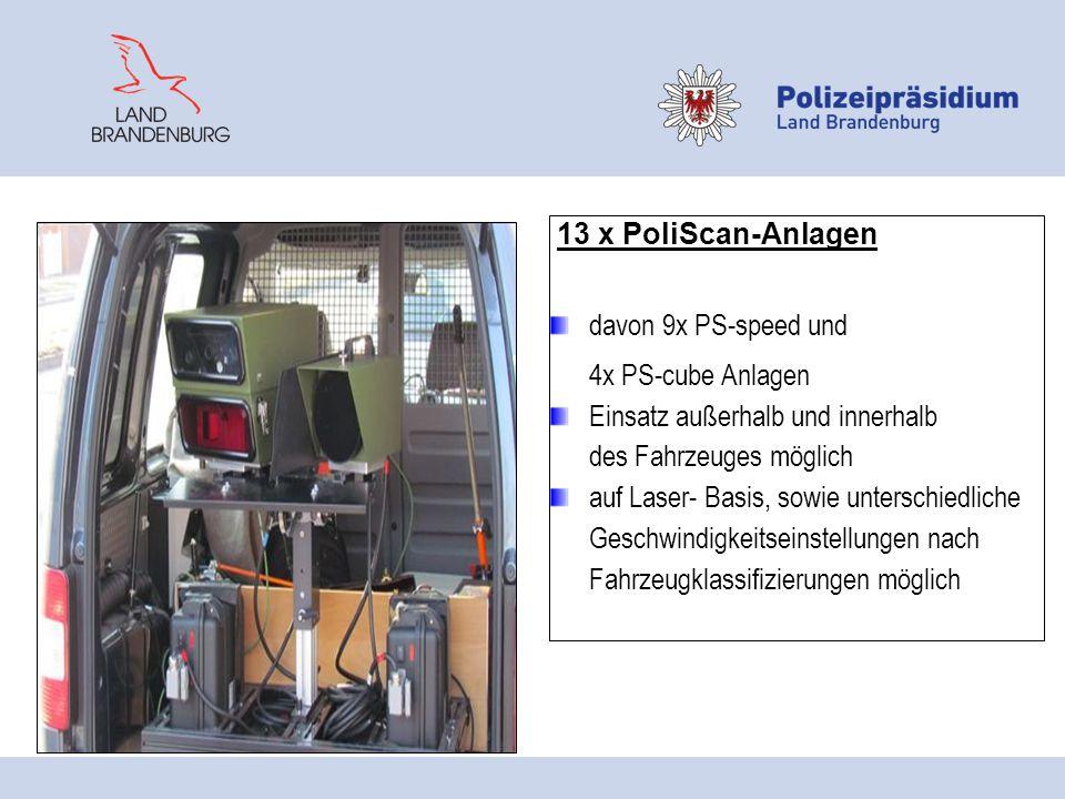 13 x PoliScan-Anlagen davon 9x PS-speed und. 4x PS-cube Anlagen. Einsatz außerhalb und innerhalb.