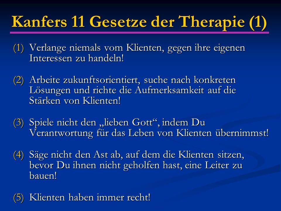 Kanfers 11 Gesetze der Therapie (1)