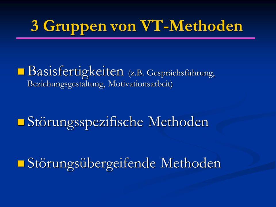 3 Gruppen von VT-Methoden