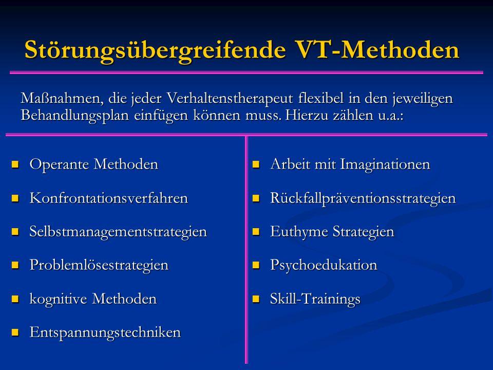 Störungsübergreifende VT-Methoden