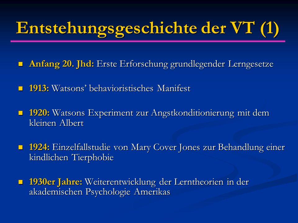 Entstehungsgeschichte der VT (1)