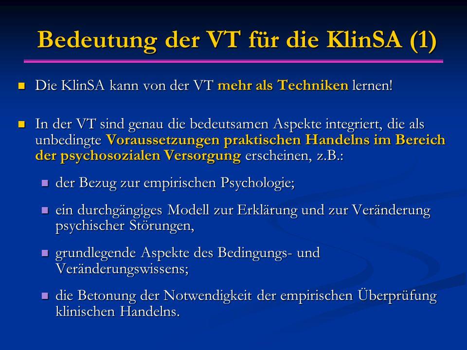 Bedeutung der VT für die KlinSA (1)