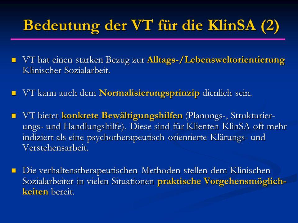 Bedeutung der VT für die KlinSA (2)