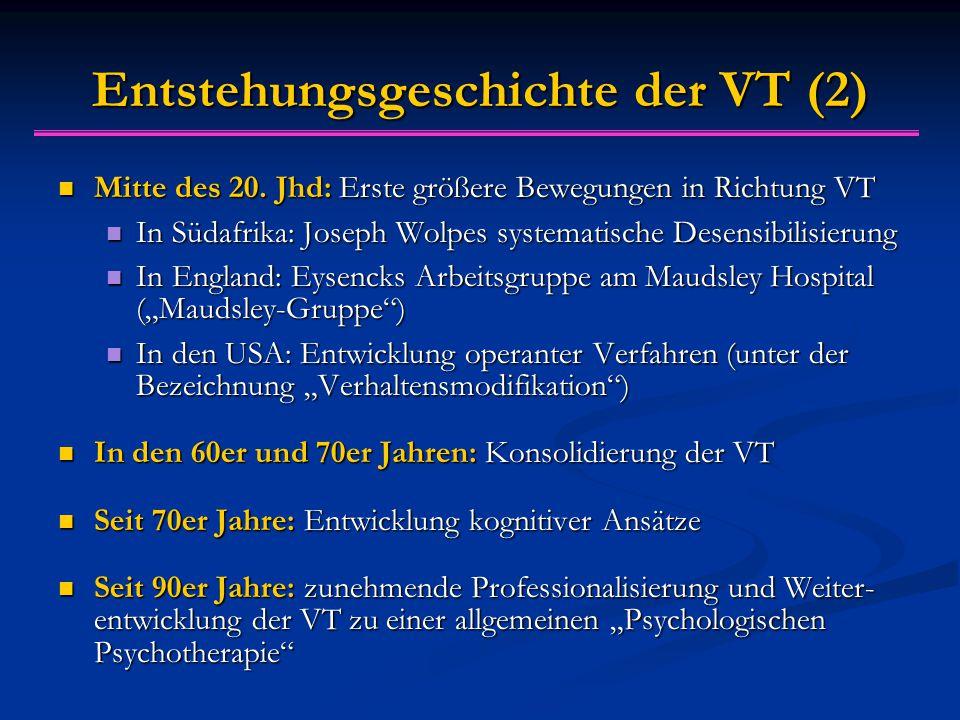 Entstehungsgeschichte der VT (2)