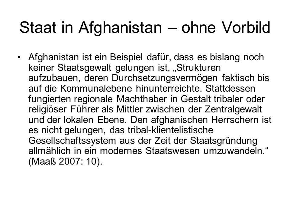 Staat in Afghanistan – ohne Vorbild