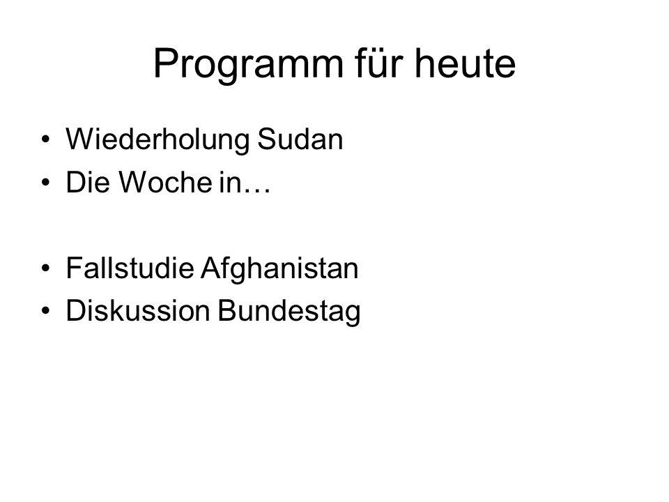 Programm für heute Wiederholung Sudan Die Woche in…