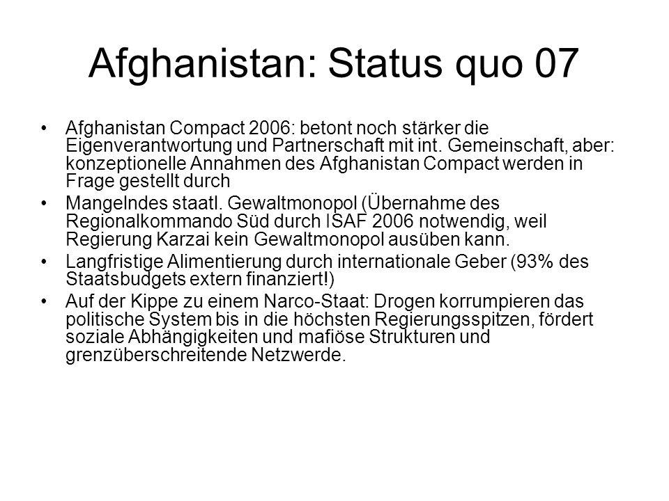 Afghanistan: Status quo 07