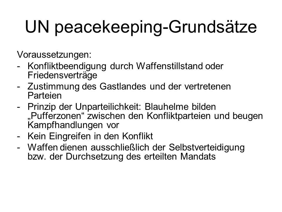UN peacekeeping-Grundsätze