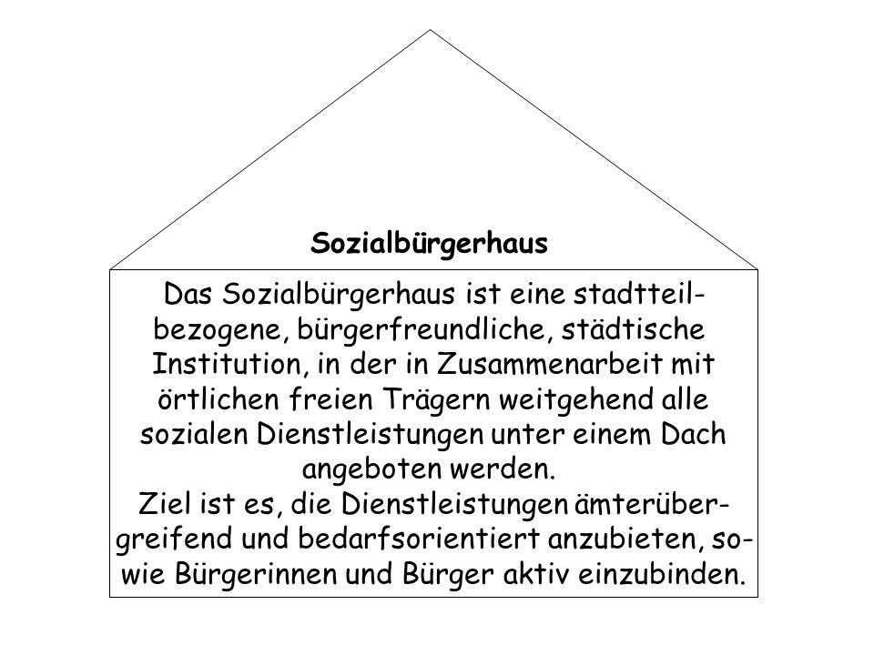 Das Sozialbürgerhaus ist eine stadtteil-