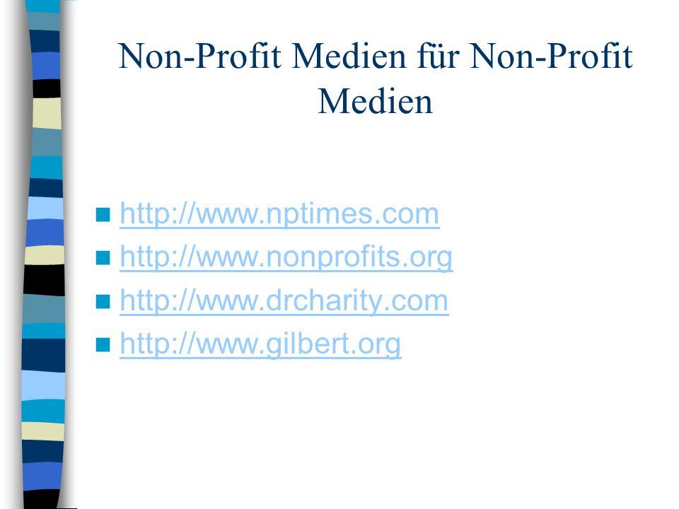 Non-Profit Medien für Non-Profit Medien