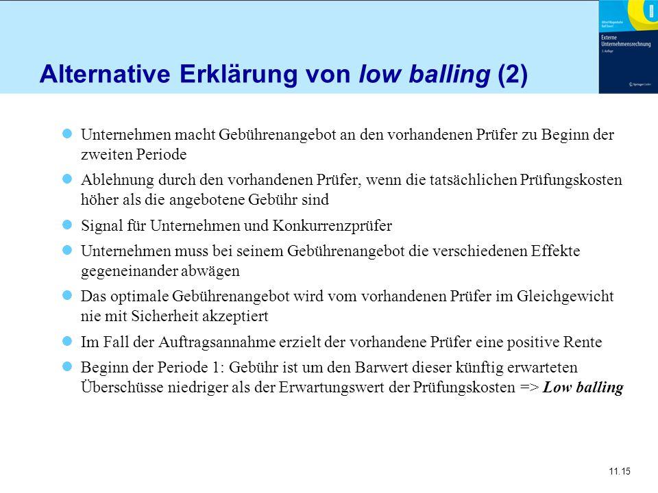 Alternative Erklärung von low balling (2)