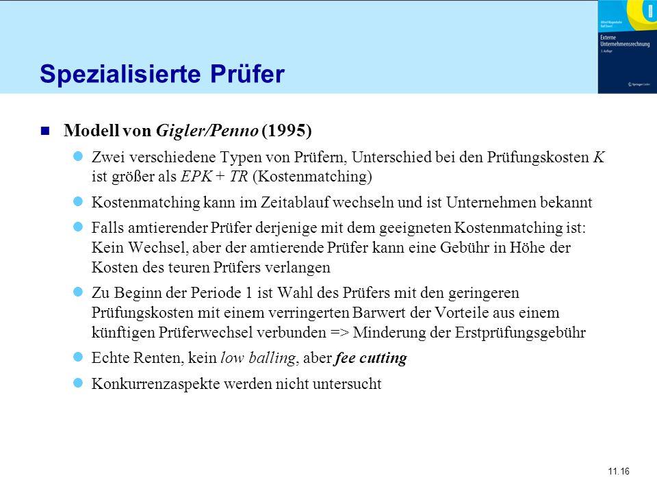 Spezialisierte Prüfer