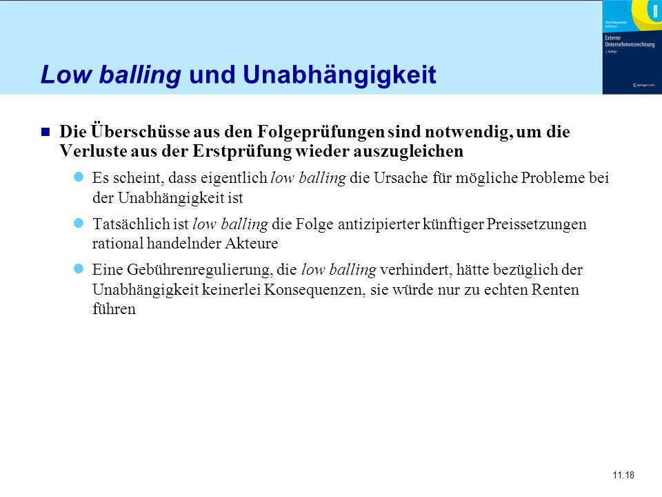 Low balling und Unabhängigkeit