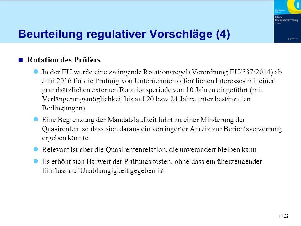 Beurteilung regulativer Vorschläge (4)