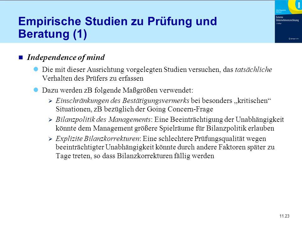 Empirische Studien zu Prüfung und Beratung (1)