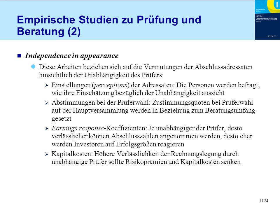 Empirische Studien zu Prüfung und Beratung (2)