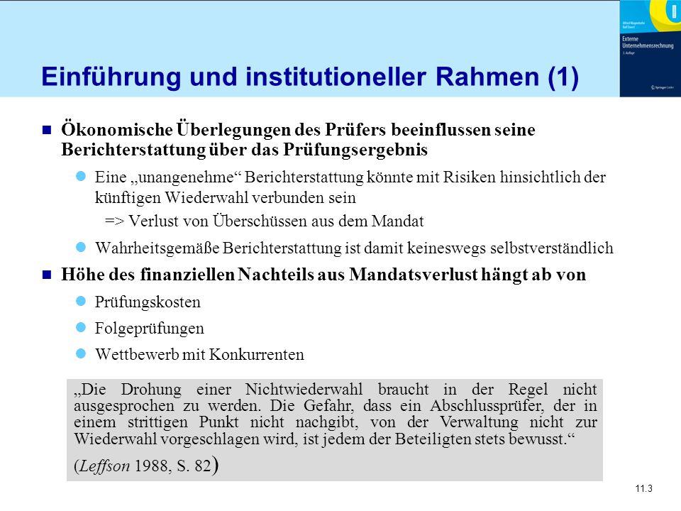 Einführung und institutioneller Rahmen (1)