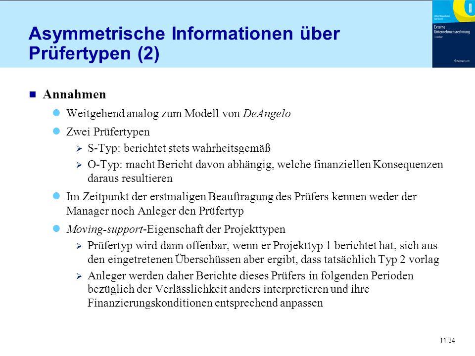 Asymmetrische Informationen über Prüfertypen (2)