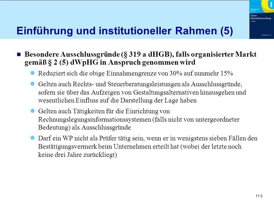 Einführung und institutioneller Rahmen (5)