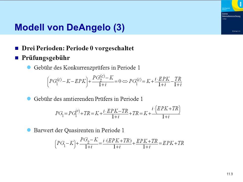Modell von DeAngelo (3) Drei Perioden: Periode 0 vorgeschaltet