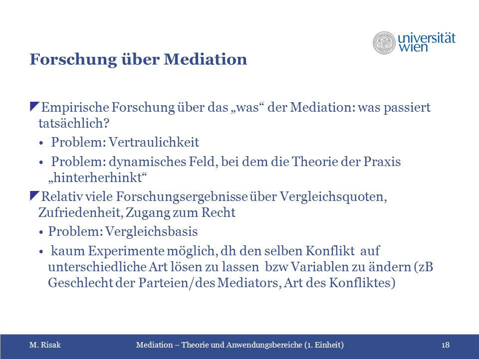 Forschung über Mediation