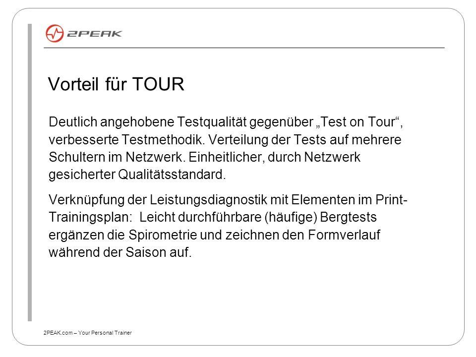 Vorteil für TOUR