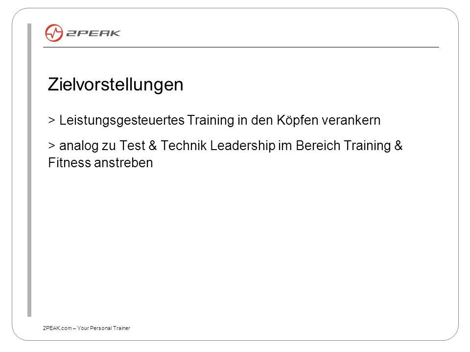 Zielvorstellungen > Leistungsgesteuertes Training in den Köpfen verankern.