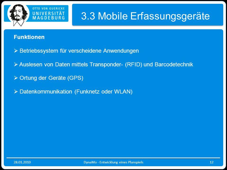 3.3 Mobile Erfassungsgeräte