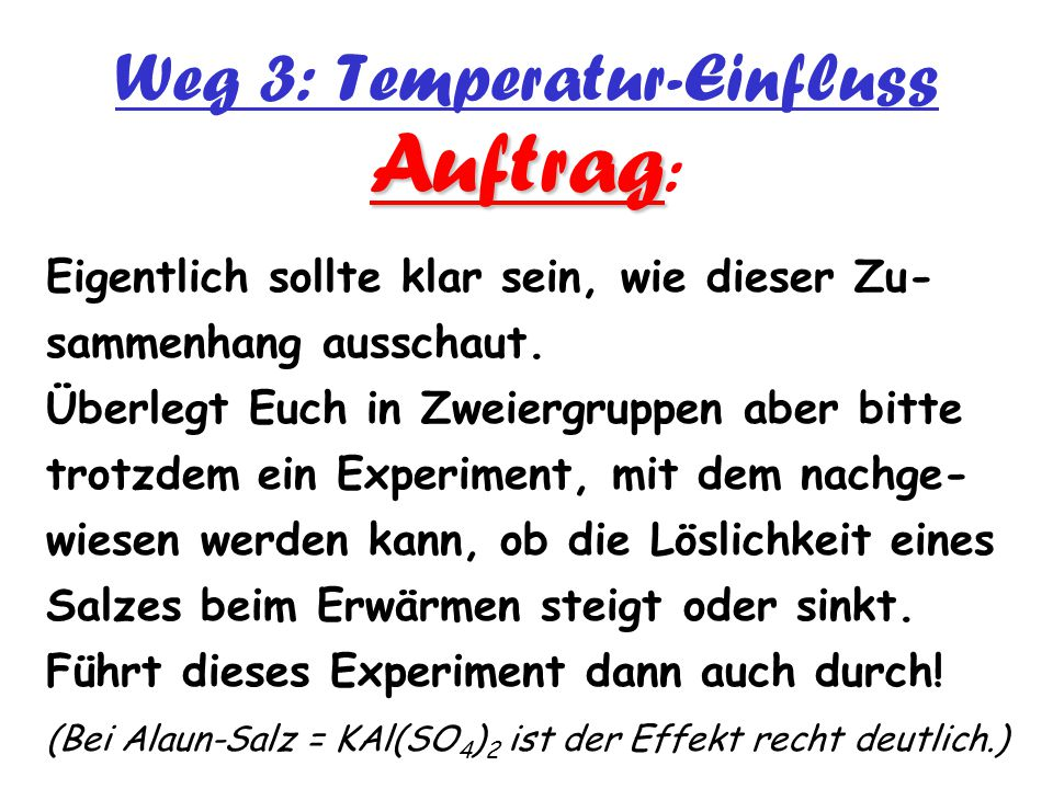 Weg 3: Temperatur-Einfluss
