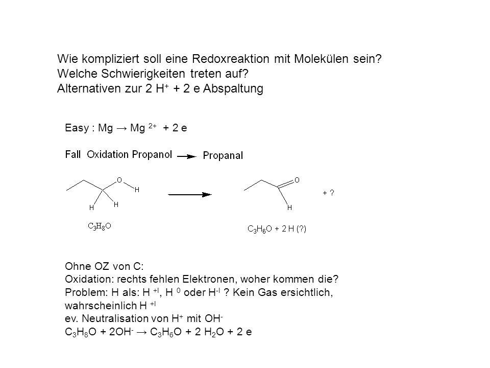 Wie kompliziert soll eine Redoxreaktion mit Molekülen sein