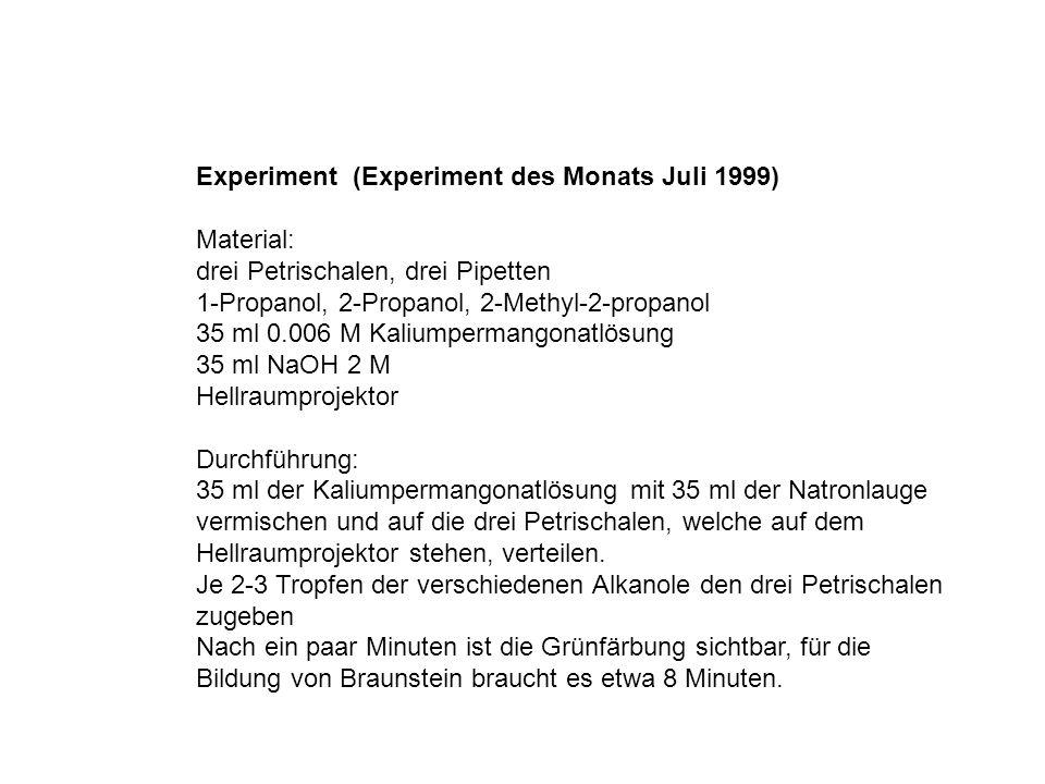 Experiment (Experiment des Monats Juli 1999)