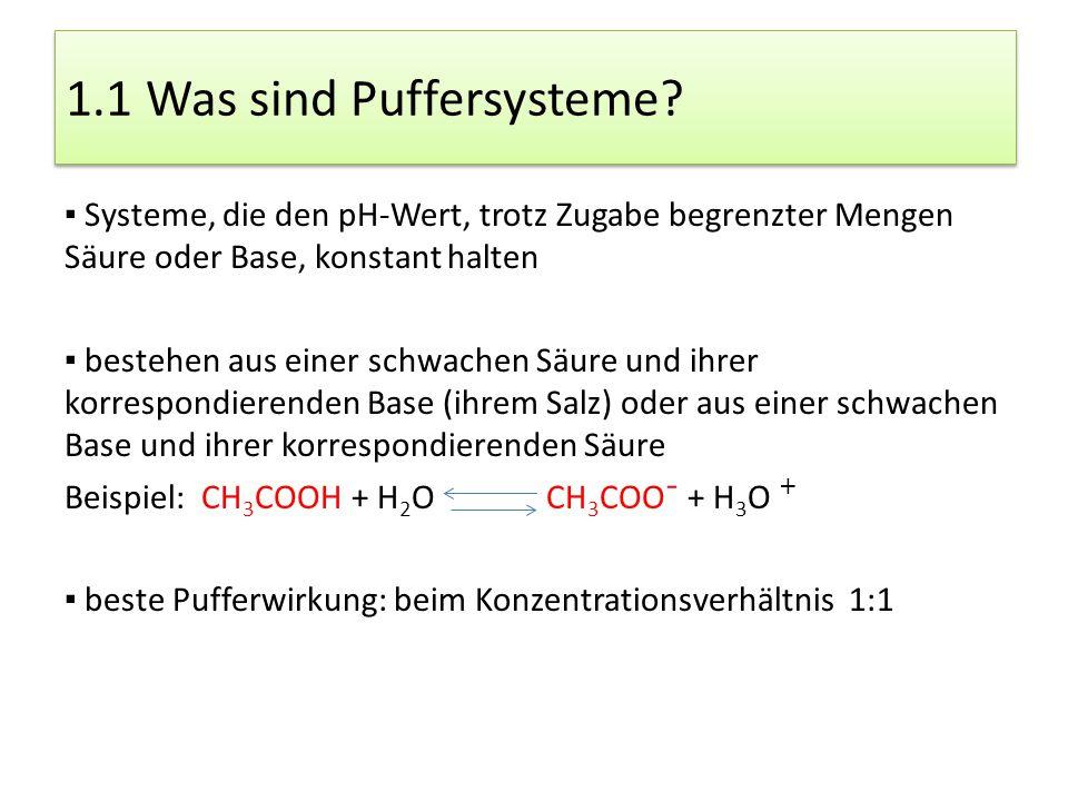1.1 Was sind Puffersysteme