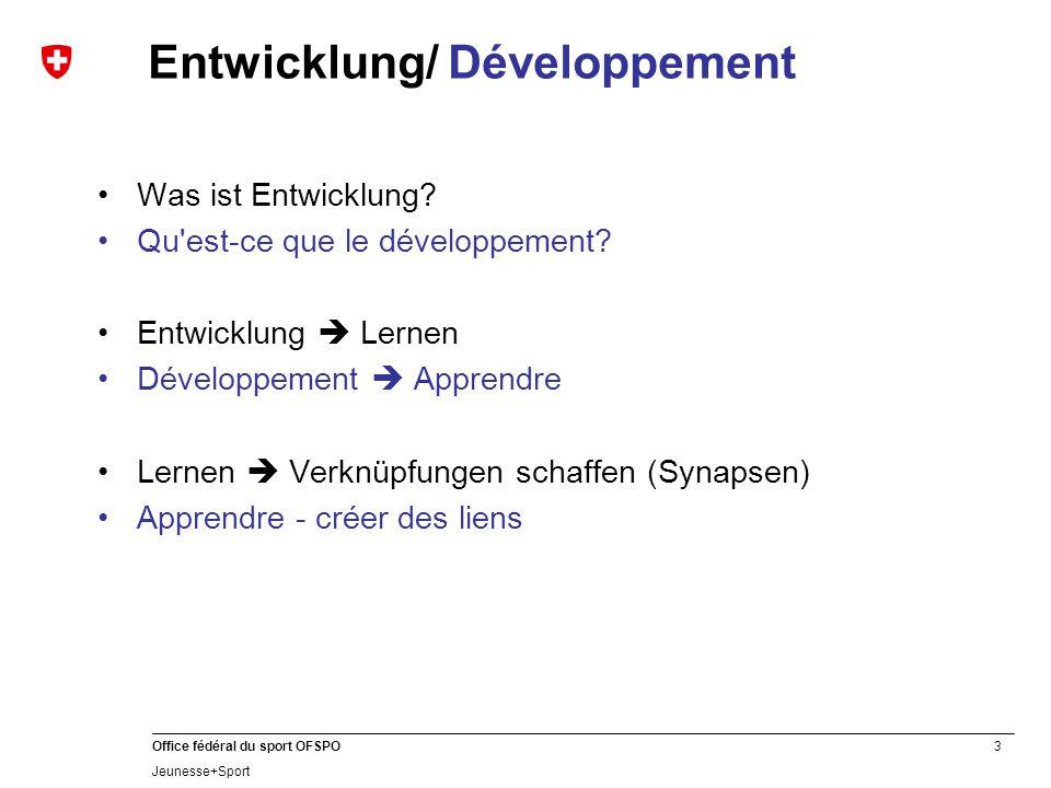 Entwicklung/ Développement