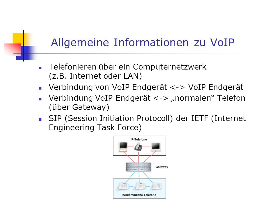 Allgemeine Informationen zu VoIP