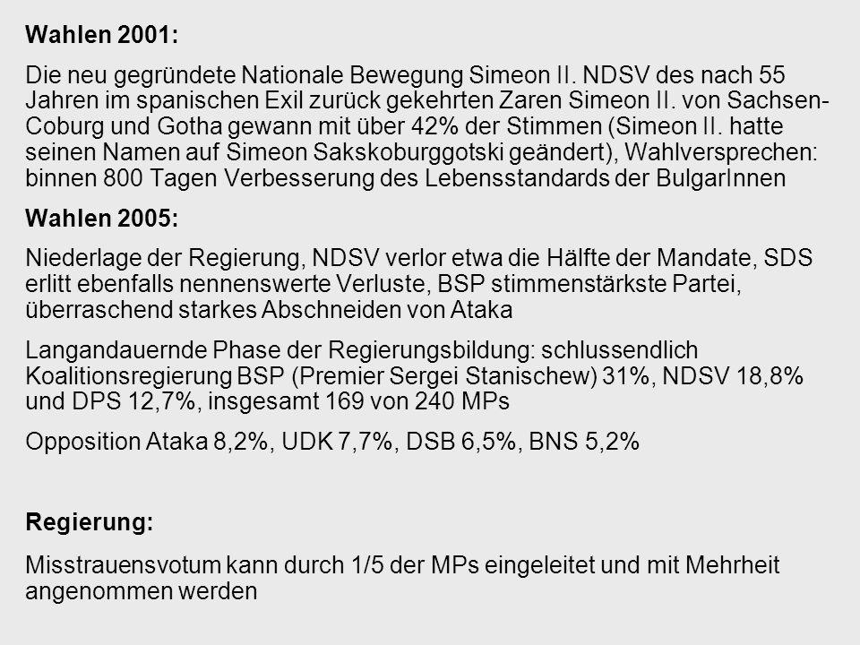 Wahlen 2001: