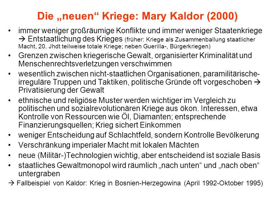 """Die """"neuen Kriege: Mary Kaldor (2000)"""