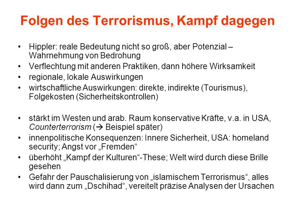 Folgen des Terrorismus, Kampf dagegen