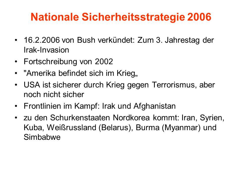 Nationale Sicherheitsstrategie 2006