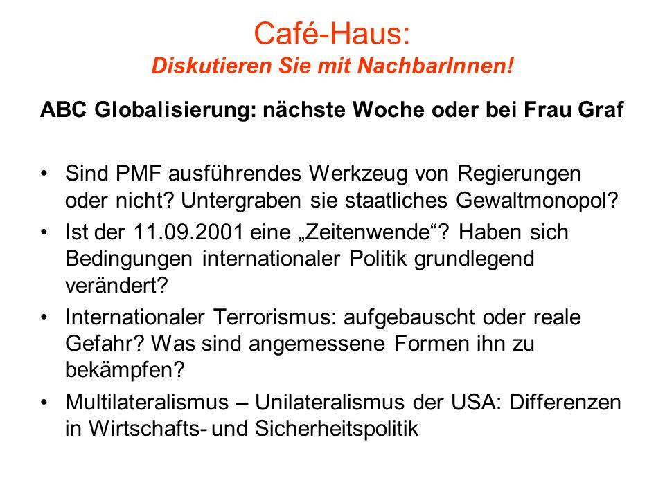 Café-Haus: Diskutieren Sie mit NachbarInnen!