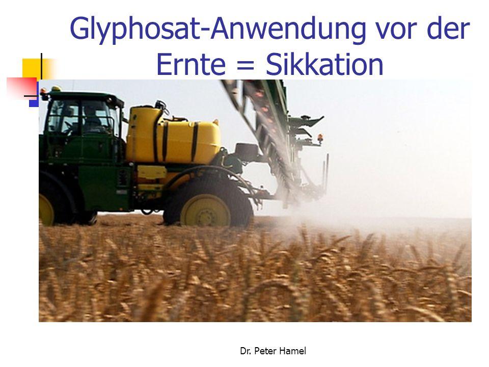 Glyphosat-Anwendung vor der Ernte = Sikkation