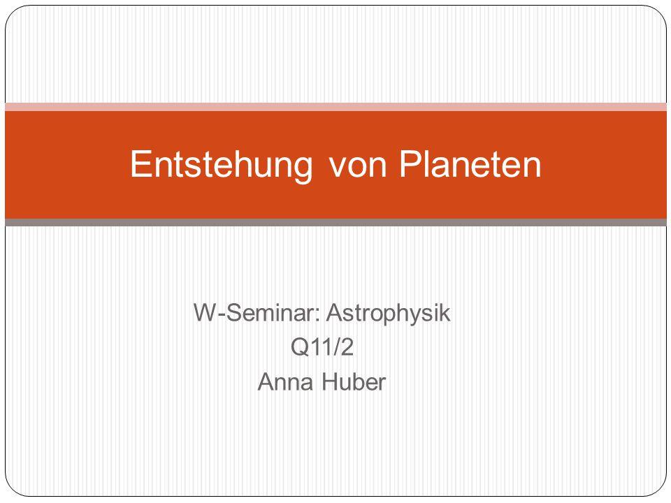 Entstehung von Planeten