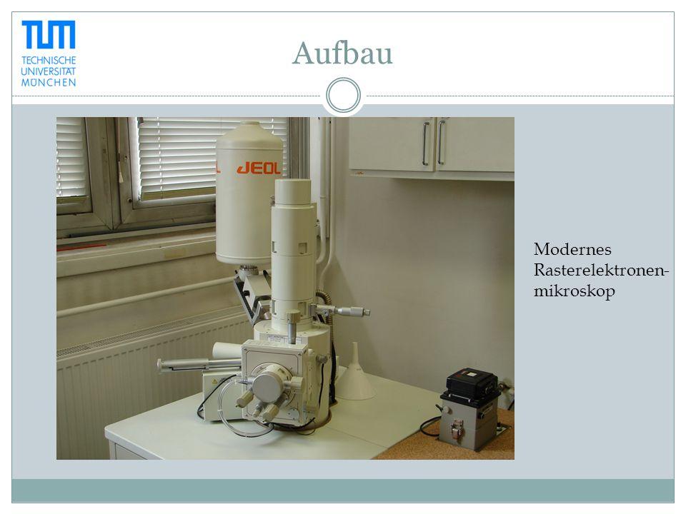 Aufbau Modernes Rasterelektronen- mikroskop