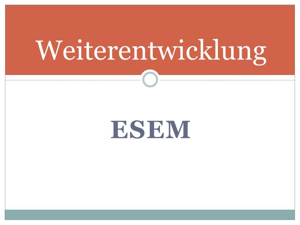 Weiterentwicklung ESEM