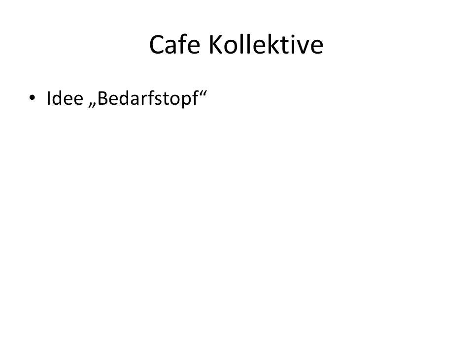 """Cafe Kollektive Idee """"Bedarfstopf"""